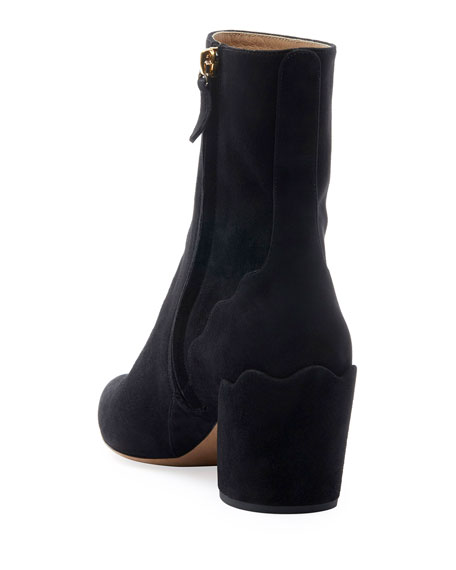 Laurena Ankle Suede Booties