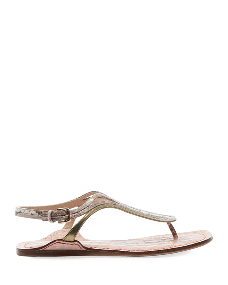 Carla Strappy Flat Thong Sandals