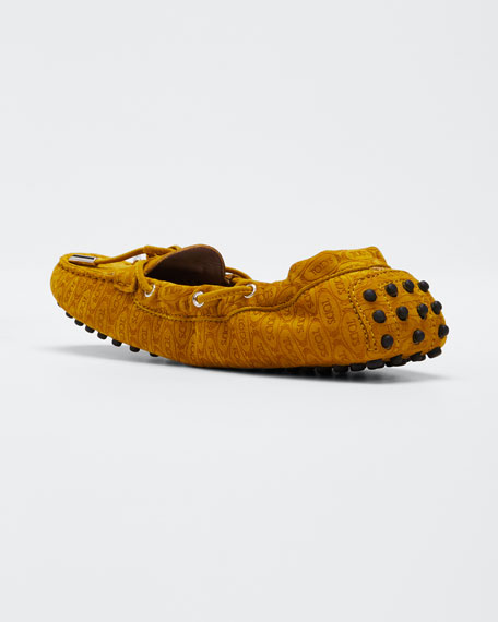 Alber Heaven Logo Suede Moccasino Loafers
