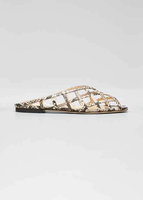 Sai Woven Caged Slide-Sandals