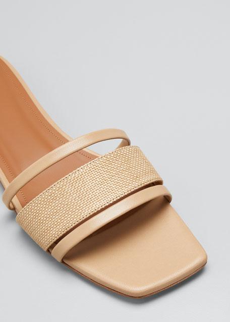 Demi Raffia Slide Sandals