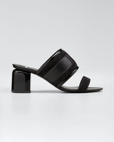 Targa 70 mm Mixed Leather Slide Sandals