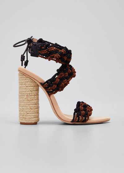 Debra Crocheted Block Heel Sandals
