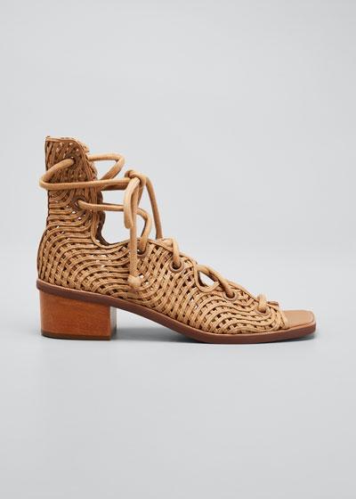 Maia Woven Gladiator Sandals