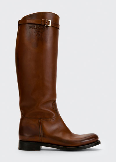 30mm Tall Leather Riding Boots