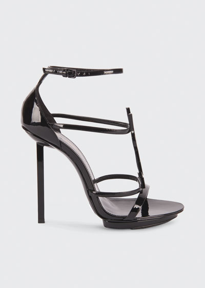 Cassandra Patent Leather YSL Sandals