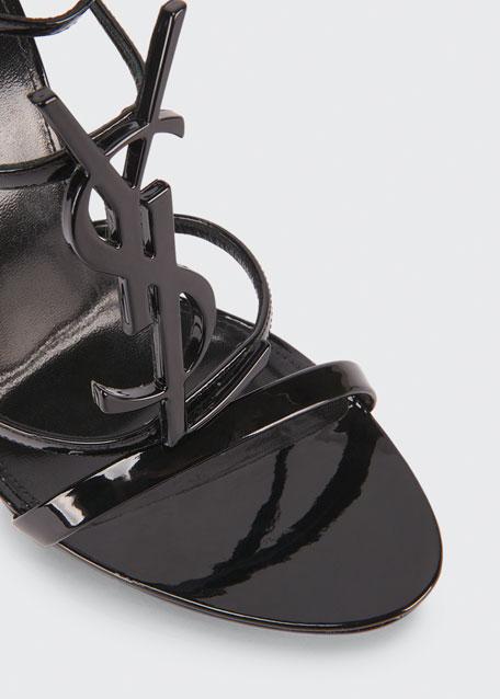 Cassandra Patent Leather YSL Sandals