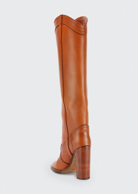 Grace Leather Western Tall Boots