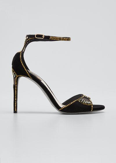 Deco Beaded Thong Flat Sandals