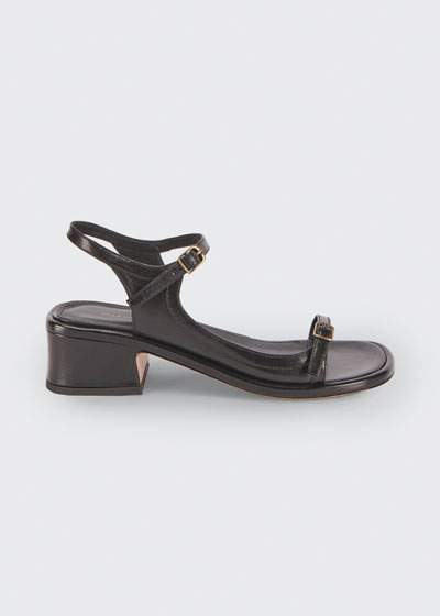 40mm Leather Strappy Buckle Sandals