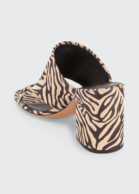 80mm Animal-Print Cuff Slide Sandals