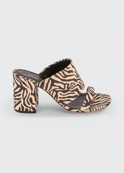 80mm Animal-Print Cuff Slide Sandals