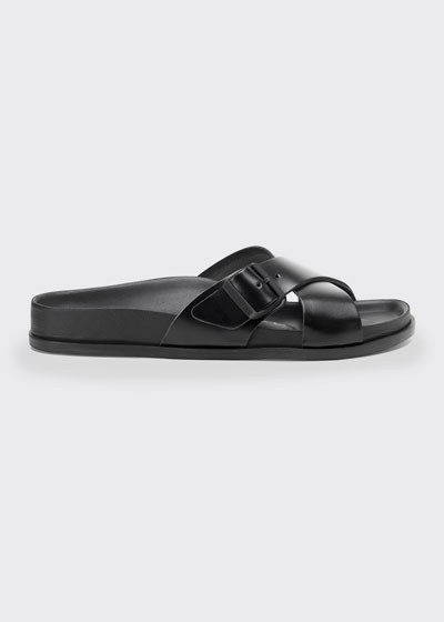 Siena Crisscross Buckle Slide Sandals