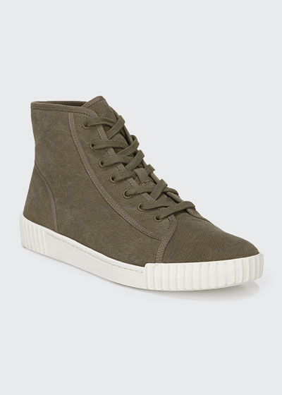 Wolfe Linen High-Top Sneakers
