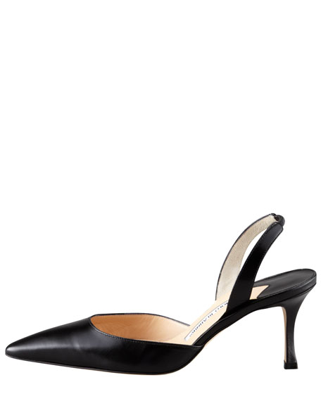 Carolyne Classic Fit Mid-Heel Halter, Black