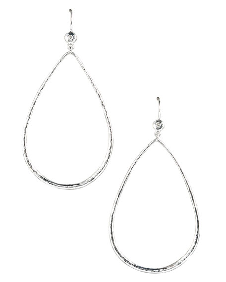Open Teardrop Earrings with Diamonds