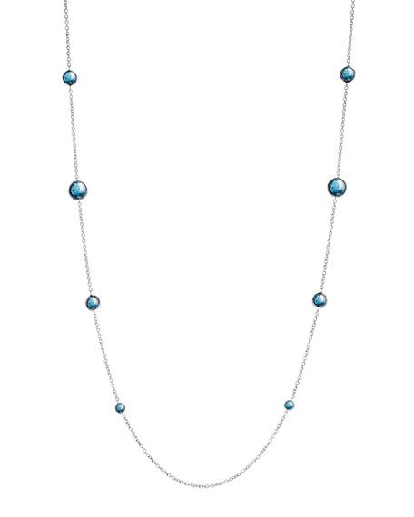 """Lollipop London Topaz Necklace, 38""""L"""