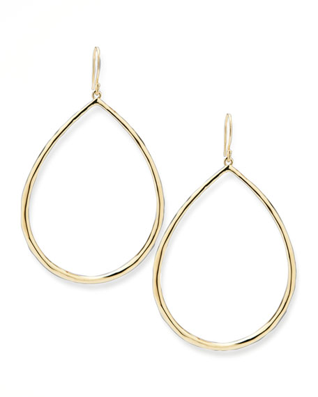 Wire Teardrop Hoop Earrings, Large