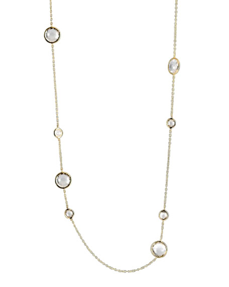 Clear Quartz Lollipop Necklace, 36""