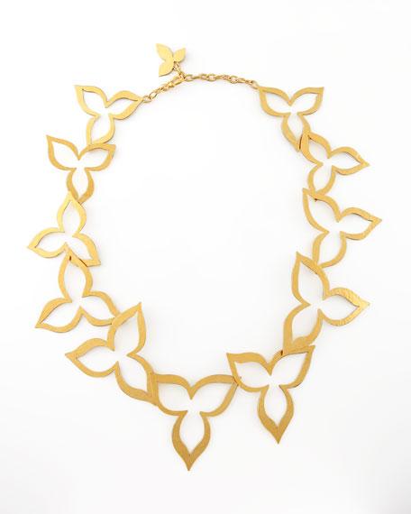 Hammered Gold Flower Necklace