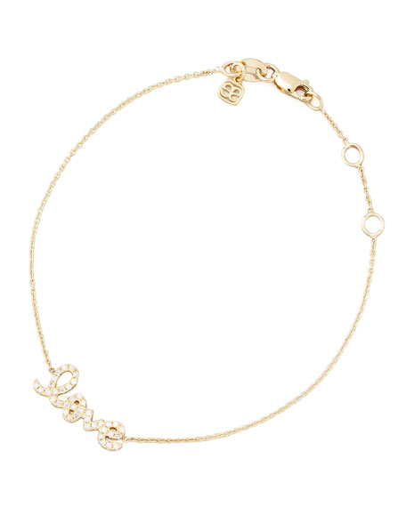 Small Yellow Gold Diamond Love Bracelet
