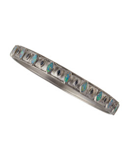Armenta New World Opal & Blue Sapphire Wide Bangle