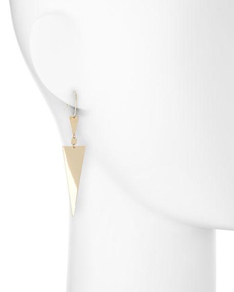 14k Gold Triangle Spike Earrings