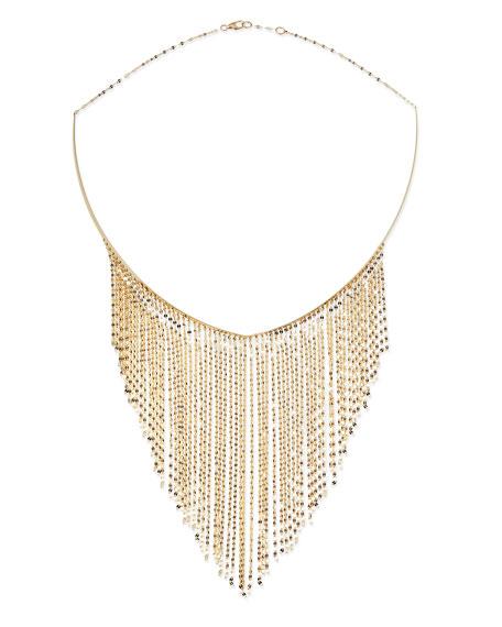 14k Gold Fringe Choker Necklace