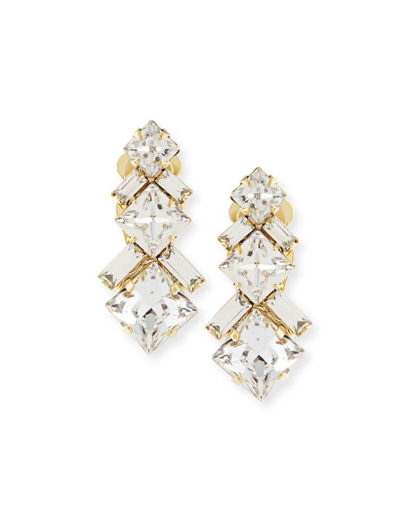 AUDEN RYDER CRYSTAL CLIP-ON EARRINGS