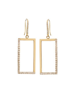 14k Illusion Diamond Earrings