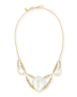 Geometric Mother-of-Pearl Bib Necklace