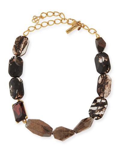 Quartz & Crystal Statement Necklace