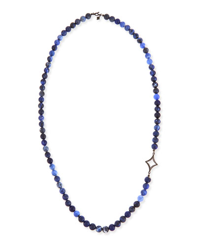Sodalite Beaded Necklace with Diamond Cravelli