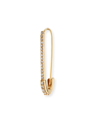 Cristina Safety Pin Diamond Single Earring