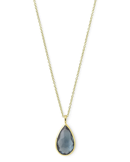 Ippolita 18k Rock Candy® Teardrop Pendant Necklace, Blue