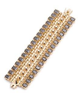 Dome Crystal Estate Cuff Bracelet