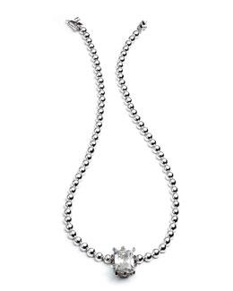 Silvertone Estate Dome Necklace