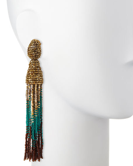 Ombre Swarovski® Crystal Tassel Earrings