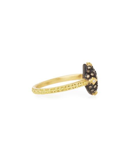 Old World Pavé Diamond Cushion Ring