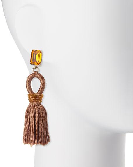 Silk Tassel Drop Earrings