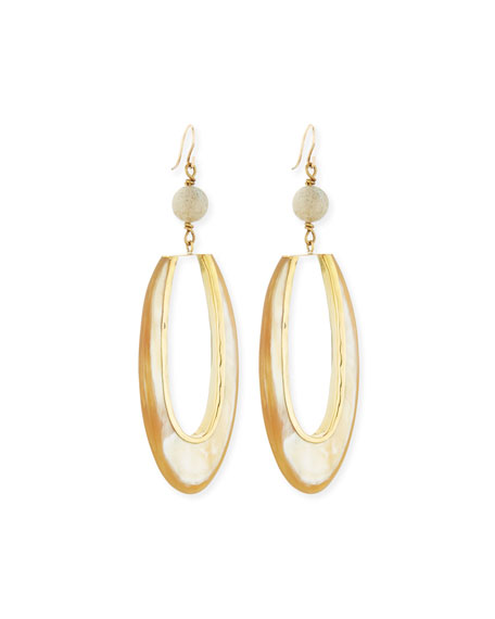 Ashley Pittman Tajiri Light Horn Drop Earrings