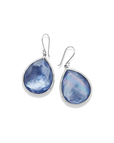 Sterling Silver Wonderland Teardrop Earrings in Royal