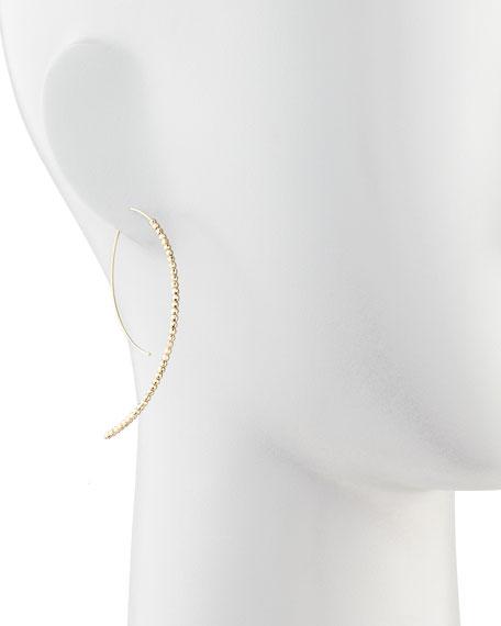 14k Gold Beaded Marquise Drop Earrings