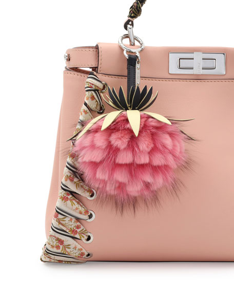 b6ccf009cc Fendi Ananas Mink Fruit Charm for Handbag