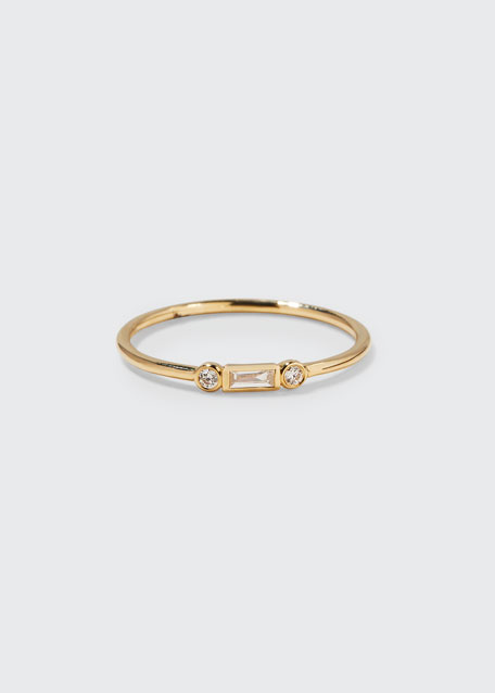 14K BAGUETTE DIAMOND STACKING RING