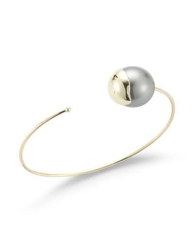 Fluid Tahitian Pearl Cuff Bracelet