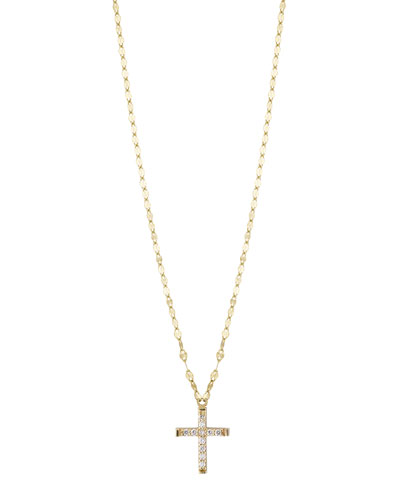 Girls' Diamond Cross Pendant Necklace