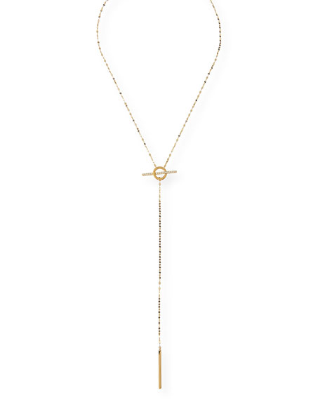 Diamond Lana Lock Lariat Necklace