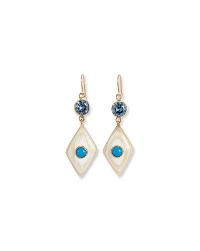 Ngome Diamond-Shaped Drop Earrings