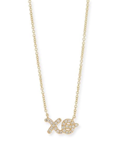 14k Diamond XO Pendant Necklace